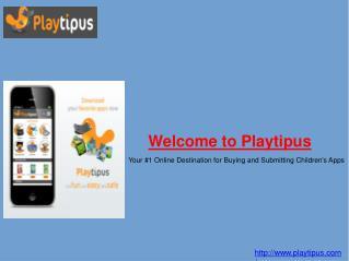 Children Software and Apps : Playtipus