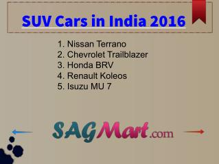 Most Fuel Efficient SUV Cars in India 2016 - PDF