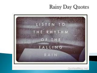 Rainy Day Quotes