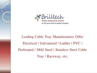 Cable Tray Manufacturers Delhi | Electrical Cable Trays