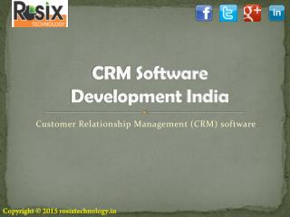 CRM software development in India