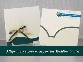 5 Ways to save your money on your Wedding Invitations