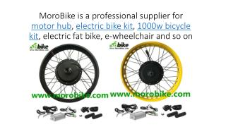 MoroBike - Hub motor, electric bike conversion kit