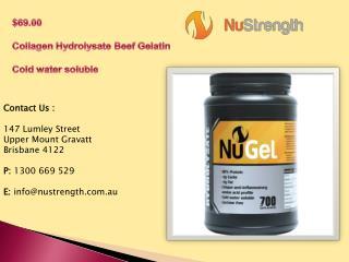 Quality Collagen Hydrolysate Beef Gelatin