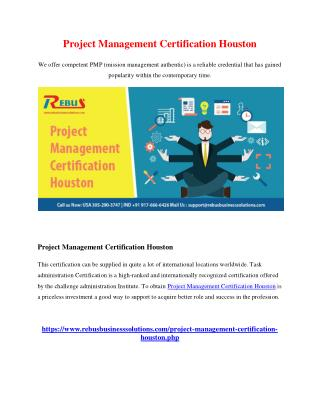 project management certification houston