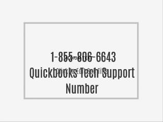 1-855-806-6643 Quickbooks Tech Support Number
