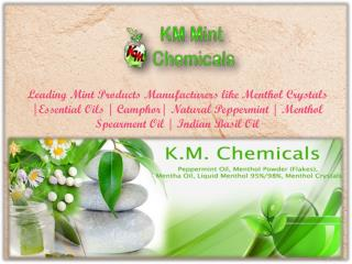 Menthol Crystals Manufacturers