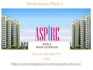 Nirala Aspire Phase 2 new residential flats