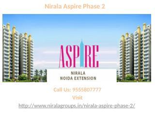 Nirala Aspire Phase 2 new residential flats