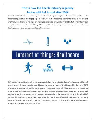 Internet Of Things Healthcare - IoT App Technology