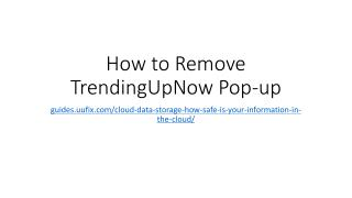How to remove trending upnow pop up