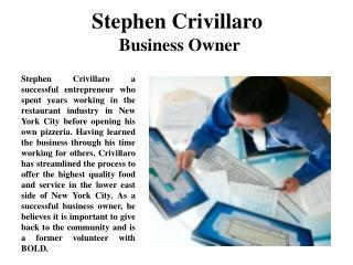 Stephen Crivillaro Business Owner