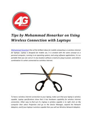 Tips by Mohammad Honarkar on Using Wireless Connection