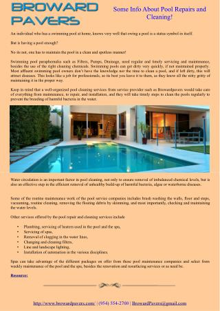 Some Info About Pool Repairs and Cleaning