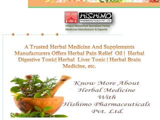 Herbal Medicine Manufacturers