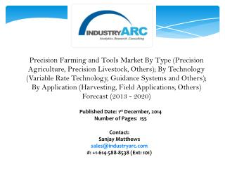 Precision Farming and Tools Market: Technologies to track large amounts of data to improve decision making.