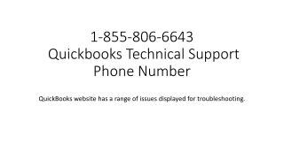 1-855-806-6643 Tech Support for Quickbooks canada