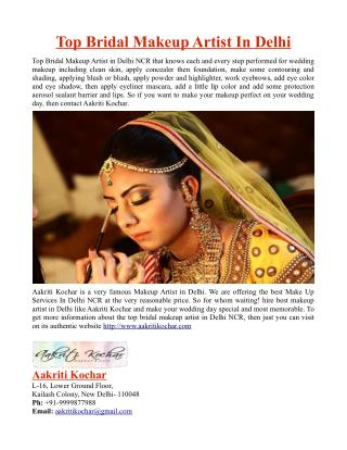 Top Bridal Makeup Artist In Delhi
