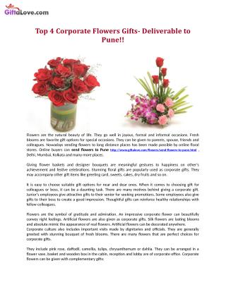 Top 4 Corporate Flowers Gifts- Deliverable to Pune!!