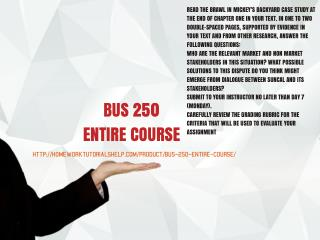 BUS 250 ENTIRE COURSE