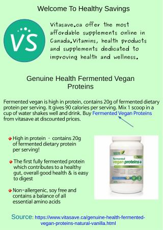 Genuine health fermented vegan proteins