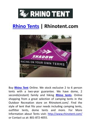 Rhino Tents | Rhinotent.com