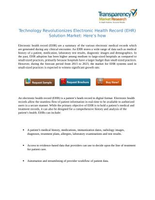 Electronic Health Records Solution Market : Challenges and Opportunities