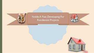 Noida: A Fast Developing For Residential Projects