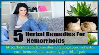 Top 5 Home Remedies for Hemorrhoid Relief