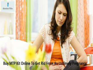 Buy MTP Kit Online To Get Rid From An Untimely Pregnancy