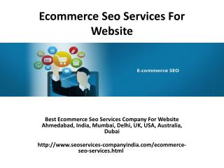 Ecommerce Seo Services For Website