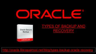 TYPES OF BACKUP AND RECOVERY
