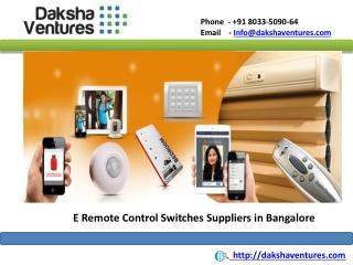 E Remote Control Switches Suppliers in Bangalore