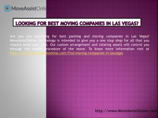 Best Moving Companies and Other Resources in Las Vegas