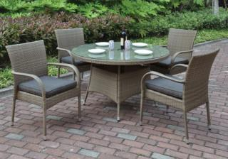 Outdoor 5 Pcs Round Patio Table Set