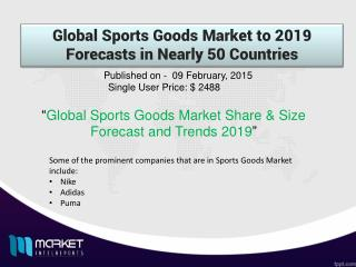 Sports Goods Market: rising due to health-conscious population for a healthy lifestyle