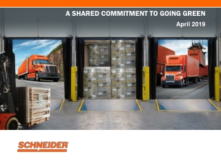 Schneider's Commitment to Going Green