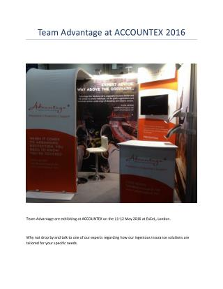 Team Advantage at ACCOUNTEX 2016