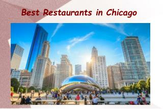 Best Restaurants in Chicago