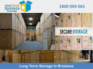 Long Term Storage In Brisbane