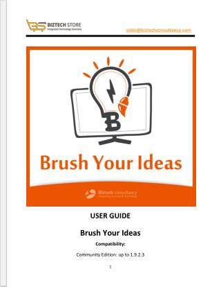 Brush Your Ideas Magento Product Designer Extension - User Guide