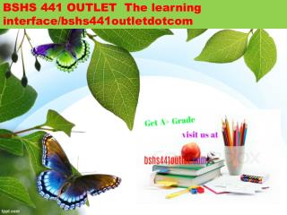 BSHS 441 OUTLET  The learning interface/bshs441outletdotcom