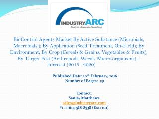 BioControl Agents market: Different active substances for different crop pest issues.