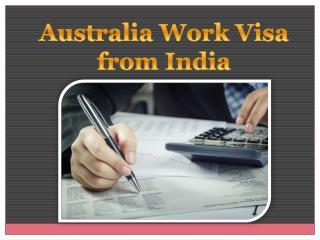 Australia work visa from India