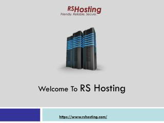 Best Dedicated Server Hosting in UK by RSHosting
