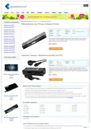 Batterie pour Asus N75S