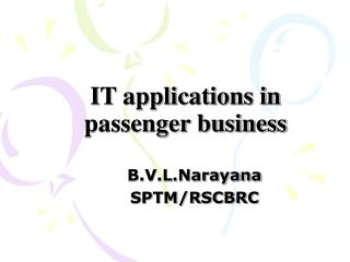 IT applications in passenger business