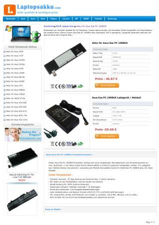 Akku für Asus Eee PC 1008HA