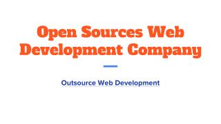 Open Sources Web Development Company