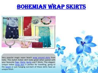 Bohemian wrap skirts